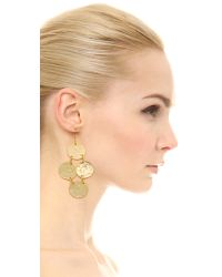 Kenneth Jay Lane - Metallic Hammered Disc Earrings - Lyst