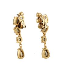 Oscar de la Renta Blue Swarovski-Crystal Asymmetric Earrings