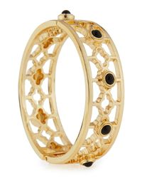 R.j. Graziano - Black Clover Golden Hinge Bracelet - Lyst