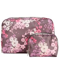 LeSportsac - Purple Extra Large & Small Cosmetic Case Combo - Lyst