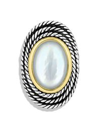 David Yurman | Metallic Cable Coil Ring With Moon Quartz | Lyst