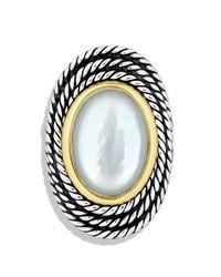 David Yurman | Metallic Cable Coil Ring With Moon Quartz | Lyst
