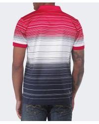 BOSS Green Gray Paddy Stripe Polo Shirt for men