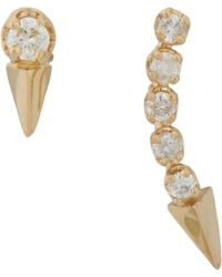 Loren Stewart - Metallic Diamond & Gold Arrowhead Pin & Stud Set - Lyst