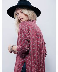 Free People | Purple Pajama Party Wrap Top | Lyst