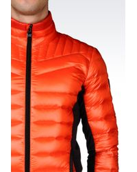 EA7 | Orange Technical Ski Down Jacket With Pertex Quantum® Technology for Men | Lyst