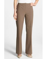 Lafayette 148 New York | Brown 'menswear' Trousers | Lyst