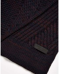 Jack & Jones - Blue Scarf In Twist Knit for Men - Lyst