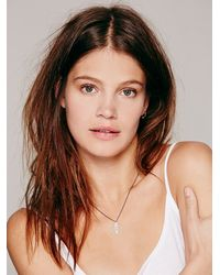 Free People - Metallic Laser Engraved Necklace - Lyst
