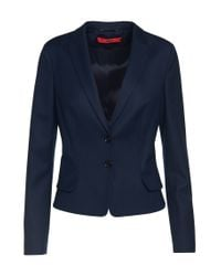 HUGO - Blue Blazer In New-wool Blend: 'almali' - Lyst