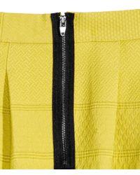 H&M - Yellow Jacquard-Weave Skirt - Lyst