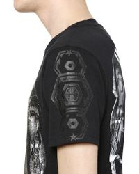 Philipp Plein | Black 'rebellion' T-shirt for Men | Lyst