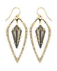Alexis Bittar | Pink Golden Crystal Kite Earrings | Lyst