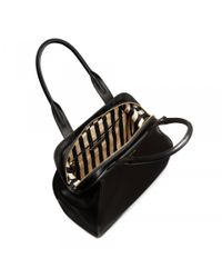 Lulu Guinness - Black Polished Leather Large Paula - Lyst