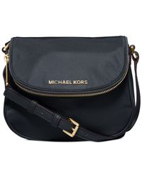 Michael Kors | Blue Michael Bedford Nylon Flap Crossbody | Lyst