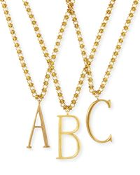 Lulu Frost - Metallic Plaza Letter Necklace - Lyst