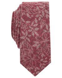 Original Penguin | Red Saguaro Floral Skinny Tie for Men | Lyst