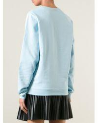 Mary Katrantzou | Blue Embroidered Love Sweatshirt | Lyst