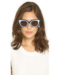 Fendi - Blue Bold Statement Sunglasses - Lyst