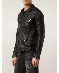 Giorgio Brato | Black Crumpled Biker Jacket for Men | Lyst