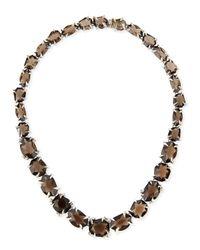Alexis Bittar Fine | Metallic Smoky Quartz & Diamond Necklace | Lyst