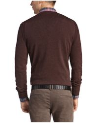 BOSS Orange | Brown Cotton-blend Sweater 'albino' for Men | Lyst