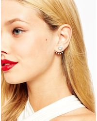ASOS | Metallic Crystal Spear Swing Earrings | Lyst