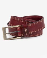 Ted Baker | Red Cricket Stitch Belt for Men | Lyst