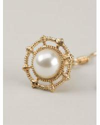 Vivienne Westwood | White 'Isolde' Drop Earrings | Lyst