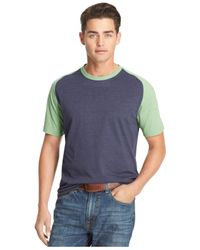 Izod - Blue Colorblocked Raglan T-Shirt for Men - Lyst