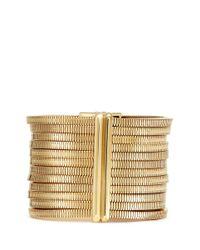 Lanvin | Metallic Crystal Stud Snakechain Tier Bracelet | Lyst