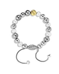 David Yurman | Metallic Dy Elements Bracelet With Pearls And Gold | Lyst