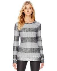 Michael Kors - Black Michael Metallic Striped Sweater - Lyst
