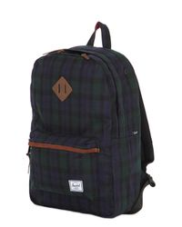 Herschel Supply Co. - Green 19l Heritage Canvas & Leather Backpack for Men - Lyst