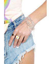 Nasty Gal - Metallic Wtf Chain Bracelet - Lyst