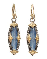 Armenta - Metallic Old World Marquis Kyanite Diamond Earrings - Lyst