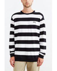 Stussy - White Stripe Long-sleeve Tee for Men - Lyst