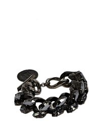 Lanvin - Black Reco Bracelet - Lyst