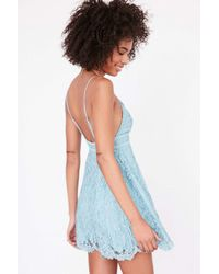 Kimchi Blue | Blue Valentina Empire Lace Mini Dress | Lyst