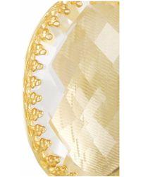Larkspur & Hawk - Metallic Small Lily Gold-Dipped Topaz Earrings - Lyst