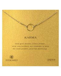 Dogeared - Metallic Original Karma Gold Plated Necklace - Lyst