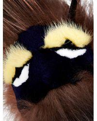Fendi - Brown Monster Bag Bugs Bag Charm - Lyst
