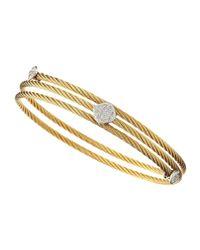 Charriol - Metallic Wrapped Rhombus Cable Bracelet - Lyst
