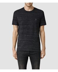 AllSaints | Black Fraction Tonic Crew T-shirt for Men | Lyst