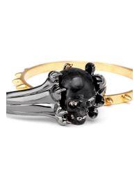 Alexander McQueen - Metallic Plexiglas Claw Skull Cuff And Stud Bangle - Lyst
