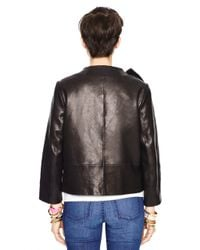 kate spade new york | Black Leather Dorothy Jacket | Lyst