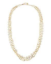R.j. Graziano - Metallic Double-row Chain Necklace - Lyst