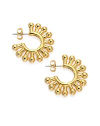 Giles & Brother | Metallic Ball Hoop Earrings/1 | Lyst