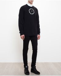 Givenchy - Black Floral Crown Sweatshirt for Men - Lyst
