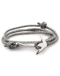 Miansai | Gray Grey Rope Silver Anchor Bracelet for Men | Lyst